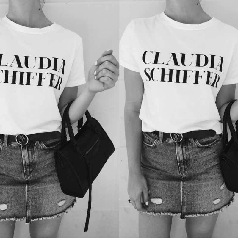 How to: Style a denim skirt & slogan t-shirt